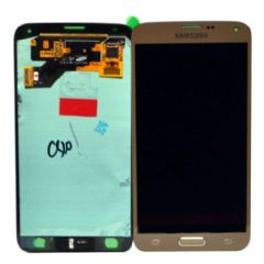 Genuine Samsung Galaxy S5 Neo G903F LCD + Digitiser Gold - Part No: GH97-17787B